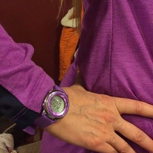 Accessories - Ladies like new purple watch, silver trim to face